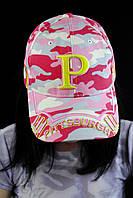 Женская розовая бейсболка
