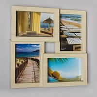 Мультирамка коллаж для фотографий на стену на 4 фото