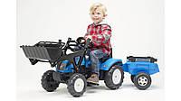 Трактор на педалях ковш прицеп Falk LANDINI синий