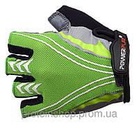Велоперчатки PowerPlay 5007 Зеленый, с