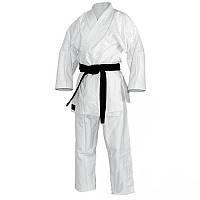 Кимоно для карате белого цвета размера от 120 до 190 см