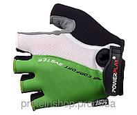 Велоперчатки PowerPlay 5010 Зеленый, с