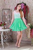 Стильное бирюзовое платье