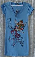 Туника футболка хлопок стрейч Pin Up р.40-42 6717, фото 1