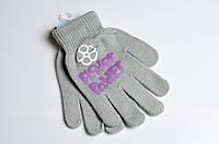 Перчатки детские вязанные с начесом 2-9 лет для девочки