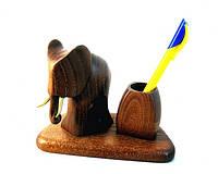 Подставка для ручек со статуэткой слон