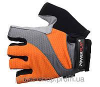 Велоперчатки PowerPlay 5004 Оранжевый, с