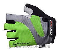 Велоперчатки PowerPlay 5004 Зеленый, хс