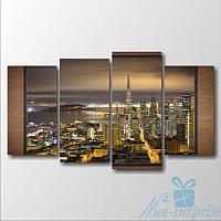 Модульная картина Сан-Франциско из 4 фрагментов, фото 1