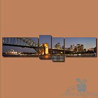 Модульная картина Квадриптих Сидней из 4 частей
