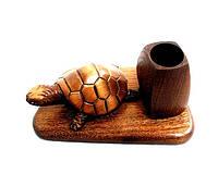 Бизнес-сувенир подставка для ручек с черепахой