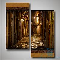 Модульная картина Диптих Старинная улочка. Италия из 2 модулей