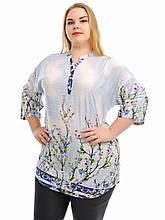 Женская летняя рубашка больших размеров