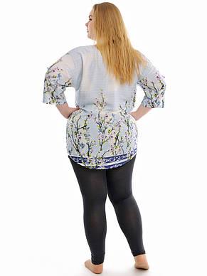 Женская летняя рубашка больших размеров, фото 2