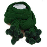 Зеленый шарф вязаный Кашемировый