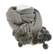 Женский вязаный шарф Серый зимний