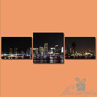 Модульная картина Южный город из 3 модулей, фото 1