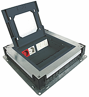 Лючок в пол на 8(16) модулей с металлическрй базой в комплекте, цена указана без учета стоимости модулей