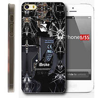 Чехол-бампер для Apple iPhone 5/5S/5SE - iBroke