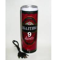 Необычная банка пива Балтика с радиоприемником и МР3 плеером