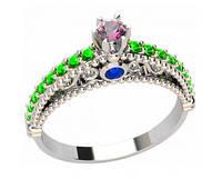 Кольцо серебряное Тифани TIFFANY 20932