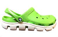Сандалии женские Crocs (кроксы, шлепки) резиновые зеленые