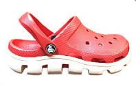 Сандалии женские Crocs (в стиле кроксы, шлепки) резиновые розовые