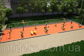 Спортивная площадка с уличными тренажерами SP901401