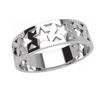 Кольцо  женское серебряное Звезды 20920