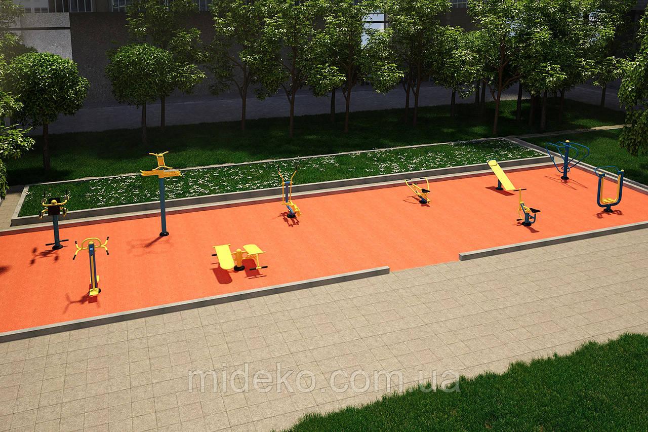 Спортивная площадка с уличными тренажерами №1