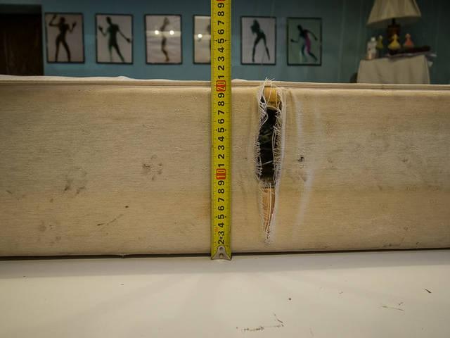 Матрас на деревянном каркасе. 34