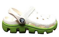 Сандалии детские Crocs (кроксы, шлепки) резиновые молочные