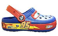 Сандалии детские Crocs (кроксы, шлепки) резиновые синие