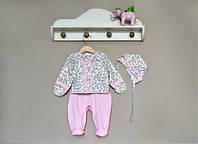 Красивый комлект на выписку для новорожденной девочки