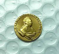 Золотой Червонец  Елизаветы 1749 года Андрей первозванный, копия монеты №431