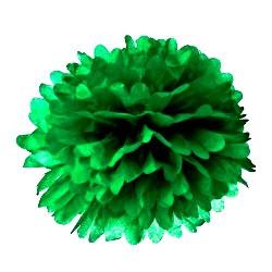 Помпон тишью зеленый 25см