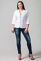 Пиджак женский большой размер Бостон белый(50-60)