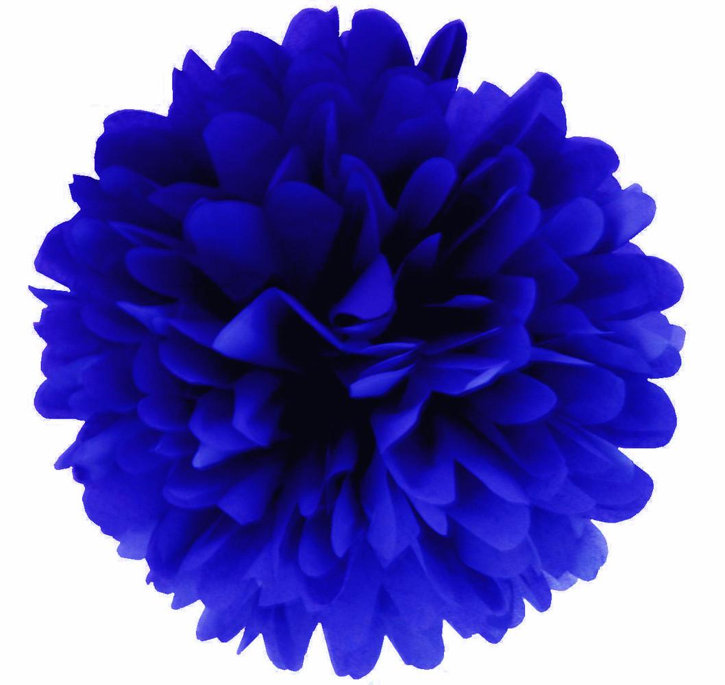 Помпон тишью синий 25см