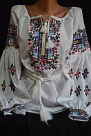 """Вышиванка """"Марийкин цветник"""", дом. полотно, 42-54 р-ры, 630\580 (цена за 1 шт."""