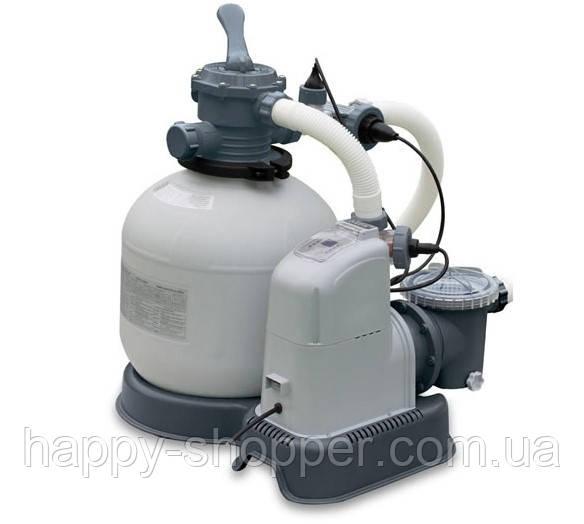Песочный насос-фильтр с хлор генератором Intex 28680