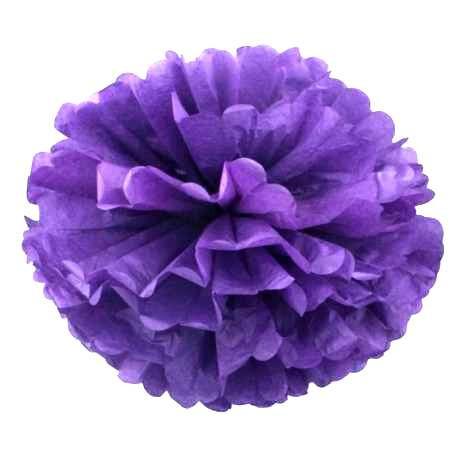 Помпон тишью фиолетовый 25см