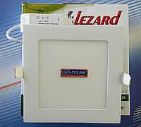 """Светодиодный светильник 9W """"квадрат"""" Lezard 6400K"""