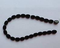 Бусина Овал плоский цвет черный 10*13 мм
