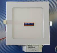 """Светодиодный светильник 12W """"квадрат"""" Lezard 6400K, фото 1"""