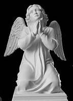 Литьевая скульптура. Статуя  на могилу Ангел на коленях из полистоуна 55 см