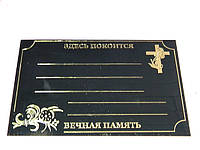 Табличка металическая