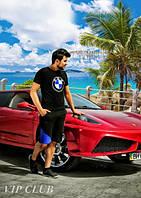 Мужской спортивный костюм BMW шорты+футболка