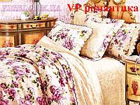 Постельное белье евро комплект Ранфорс-Платинум. VILUTA (Вилюта)  VРП романтика
