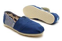 Эспадрильи мужские Toms Classic Deep Blue/White