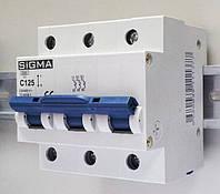 Автоматический выключатель автомат 100 А ампер трехфазный трехполюсный С C характеристика Европа
